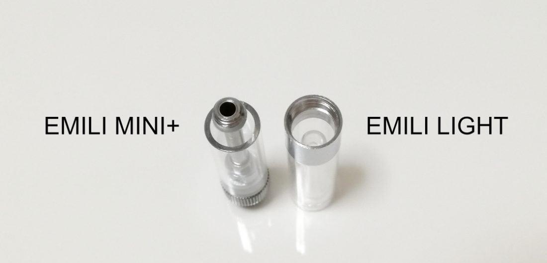 エミリミニプラスとエミリライトのリキッド注入口