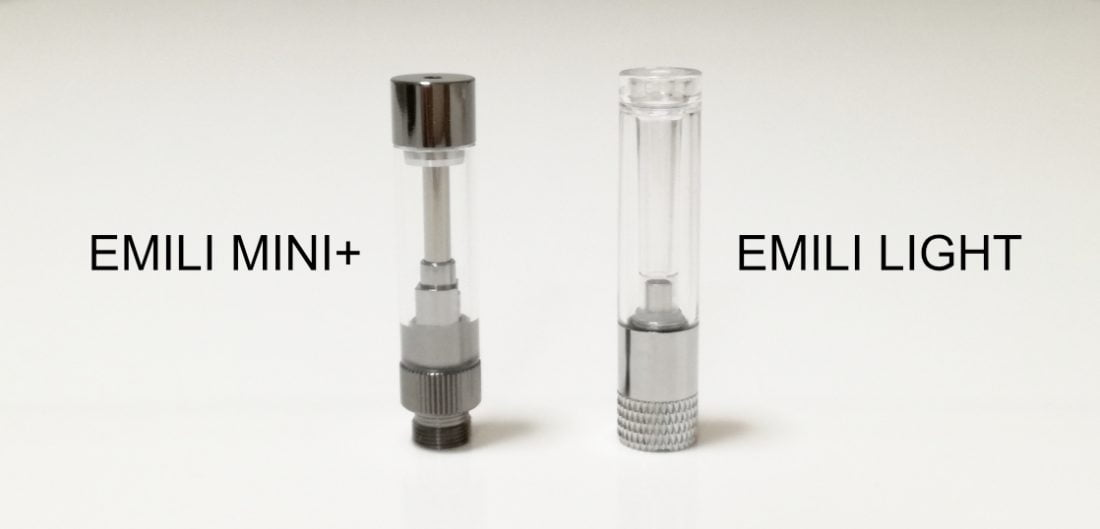 エミリミニプラスとエミリライトのアトマイザー